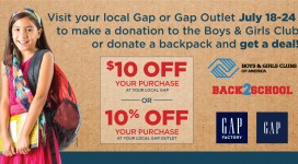 2016 Gap Backpack Campaign!