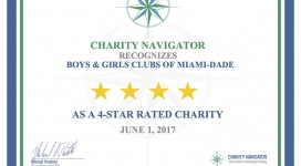 Boys & Girls Clubs of Miami-Dade Earn 4-Star Rating from Charity Navigator